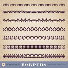 Borders decorative elements set 4