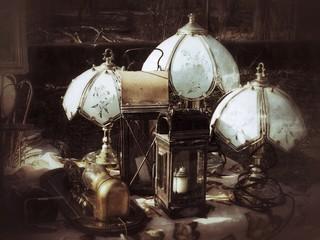 Nostalgische alte Lampen