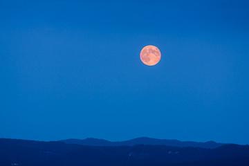 Full Moon Rising at Blue Hour