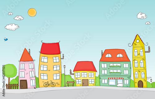 Cartoon street © zsooofija