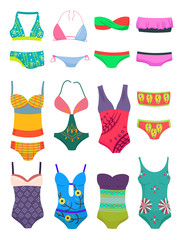 Set  of swimwears