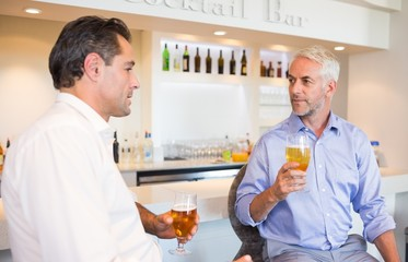Business colleagues drinking beer