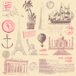 Vintage Travel Design Elements - 62338914