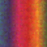 Geometric seamless pattern with triangles of spectrum colors