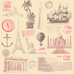 Vintage Travel Design Elements © Giraphics