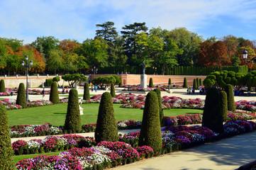 Madrid . Parterre del parque del Retiro
