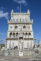 Belem tower terrace in Lisbon