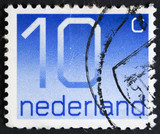 Postage stamp printed in the Netherland shows value