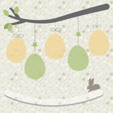 Easter eggs background vector card, poster