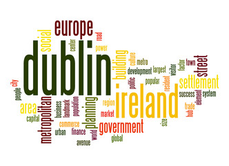 Dublin word cloud