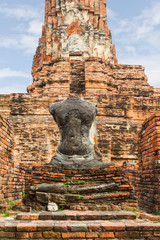 Ruin of seated buddha