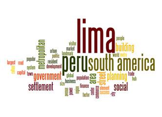 Lima word cloud