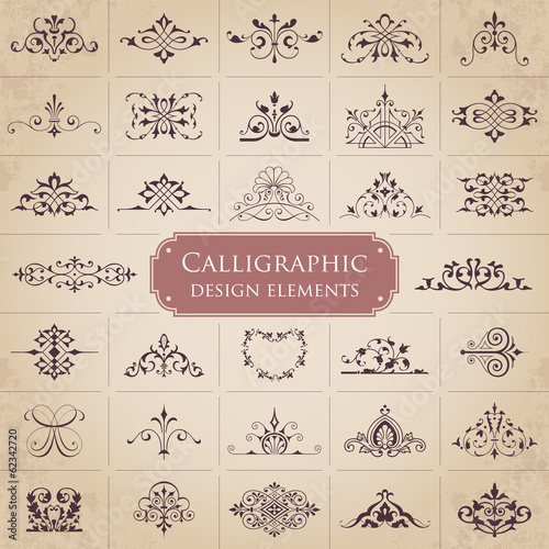 Calligraphic design elements - set 1