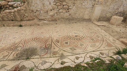 5th or 6th century BC Ancient Arycanda City at Turkey (mosaic)