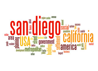 San Diego word cloud