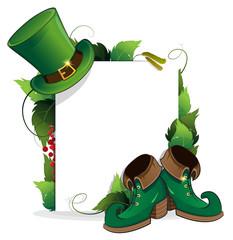 Leprechaun shoe and  hat