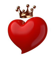 Heart with crown.