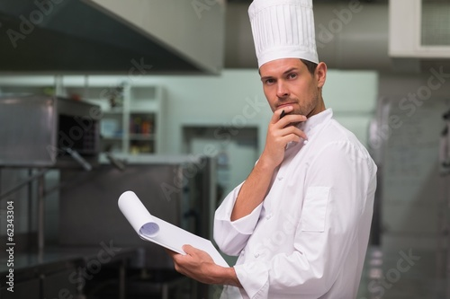 Head chef planning the menu