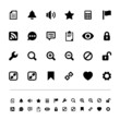 Retina interface icon set