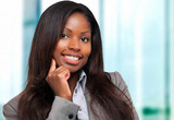 Smiling black businesswoman portrait