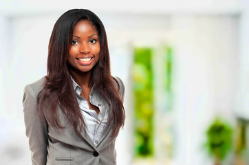 Smiling young african businesswoman