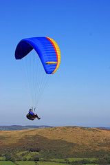 paraglider over Dartmoor