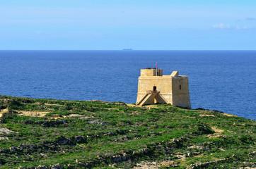 coastal watchtower on island Malta