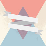 Ribbon triangle poster, vector illustration