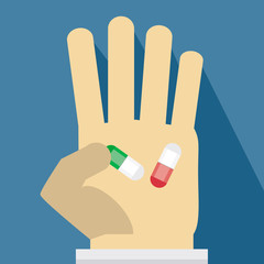 Pills on hand