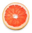 grapefruit slice on white background