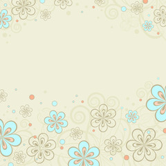 background with floral ornaments