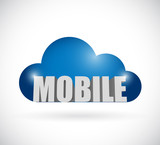 mobile cloud illustration design