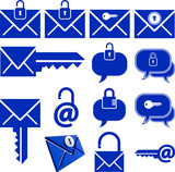 locked message icon set