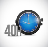 40 hours watch illustration design