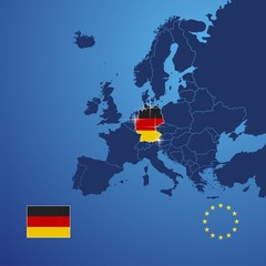 Germany map cover vector