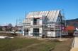 Neubau eines Einfamilienhauses in einem Wohngebiet