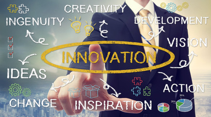 Businessman with business innovation concept