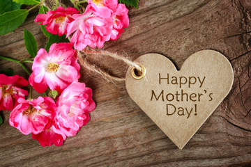 Heart shaped mothers day card