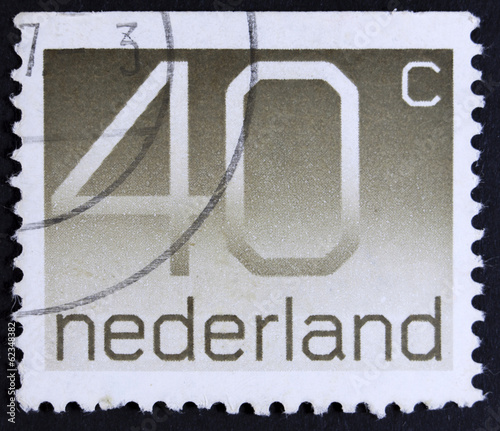 "Stamp printed in the Netherlands shows ""40 cent"", series, circa"