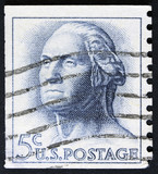 Stamp printed in the USA, shows a Frank Lloyd Wright