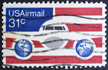 United States Airmail postage stamp,
