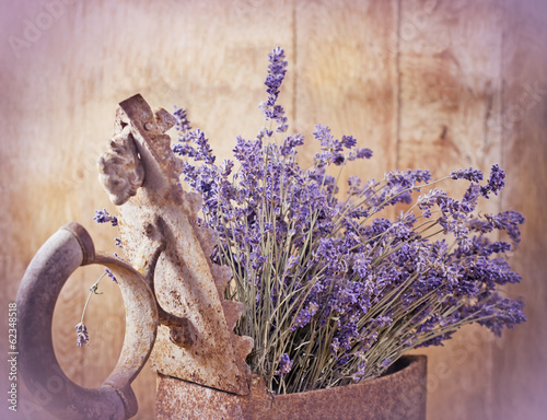 Rustic iron (old irin) and dry lavender