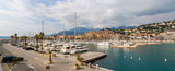 Panorama of Menton port - French Riviera, France