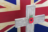poppy cross flag
