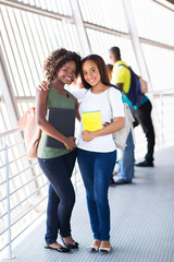 african female college friends