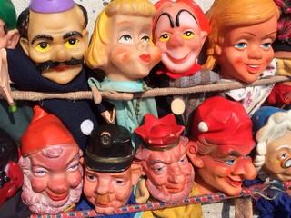 Alte Figuren vom Kasperle Theater
