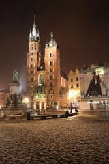 Kościół Mariacki - nocą