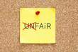 Fair Not Unfair Sticky Note