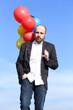 geschäftsmann mit ballons