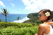 Hawaii Big Island - woman looking at view
